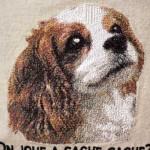 ミシン刺繍 作品 犬