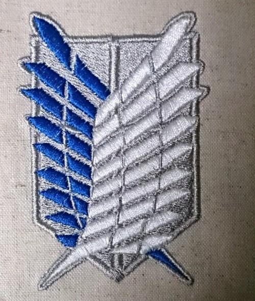 自由の翼 刺繍
