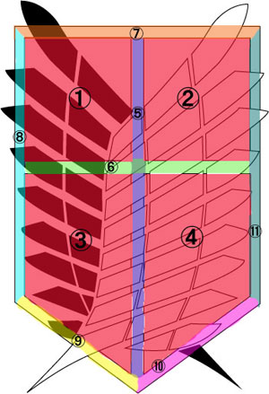 ブロック分け画像